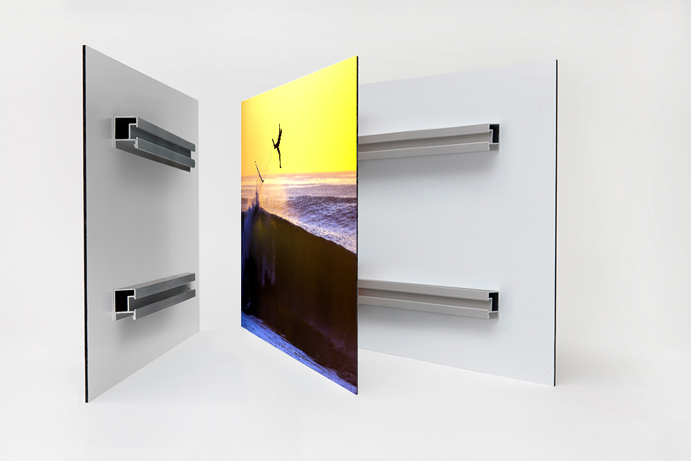 Dibond Mounted Print + Hanging Bars